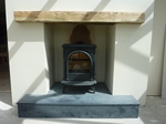 Stove fitted to conservatory fireplace