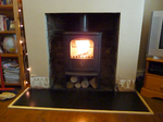 Morso Badger 5kw defra approved stove with wood store