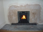 Slate tiled hearth with Stovax Stockton 5kw multi fuel stove